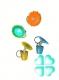 Брелок пластиковый СВИНЬЯ 3,8 см (6 цветов) №181