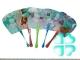 Веер-опахало пластиковое цветное №15010