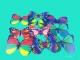 Бабочка декоративная ПВХ 4 см+магнит №24