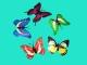 Бабочка декоративная ПВХ 10см+зажим №28