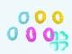Бублик-бигуди (цветной пластик) уп.6 шт
