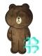 Термоаппликация МЕДВЕДЬ 22 см ( плюш коричневый)