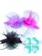 Украшение ЦВЕТОК на зажиме (вуаль) 20 см ( 4 цвета по 3 шт)