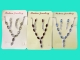 Колье с сережками (металл*стразы3 цвета №6636
