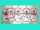 Заколка пластиковая КРАБ (цветной,матовый с рисунком) Н-15