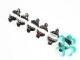Шляпка бархатная 5см на уточке (разноцветная) Д-460