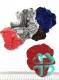 Резинка бархатная средняя(хамелеон/черный ) №7/307