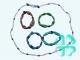 Браслет- нить (80 см) магнит+гематит №893