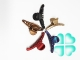 Краб пластиковый цветной 8см*6цв в уп.№89В