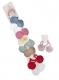 Резинка для волос силиконовая (1 лист*12 пакетов) ЧЕРНАЯ