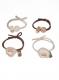 Резинка для волос силиконовая (1 лист*12 пакетов) БЕЛАЯ